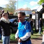 Jean-Pierre Duarte Da Costa à l'arrivée de l'Assaut de Gergovie