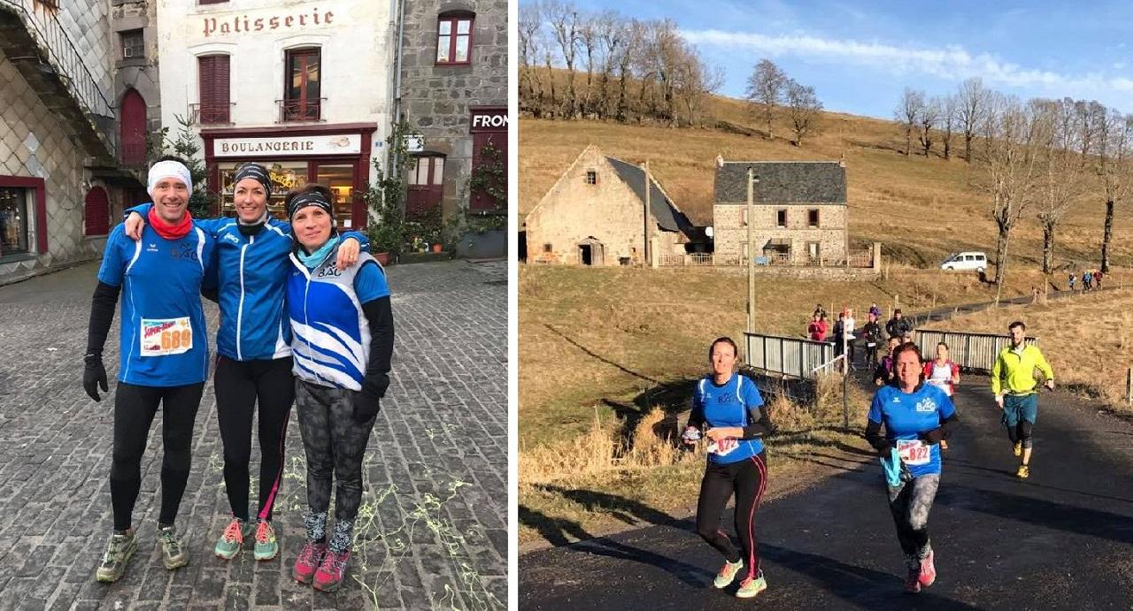 Franck Roche, Stéphanie Kouachi, Angela Maruca (départ 13 km) - les filles en action