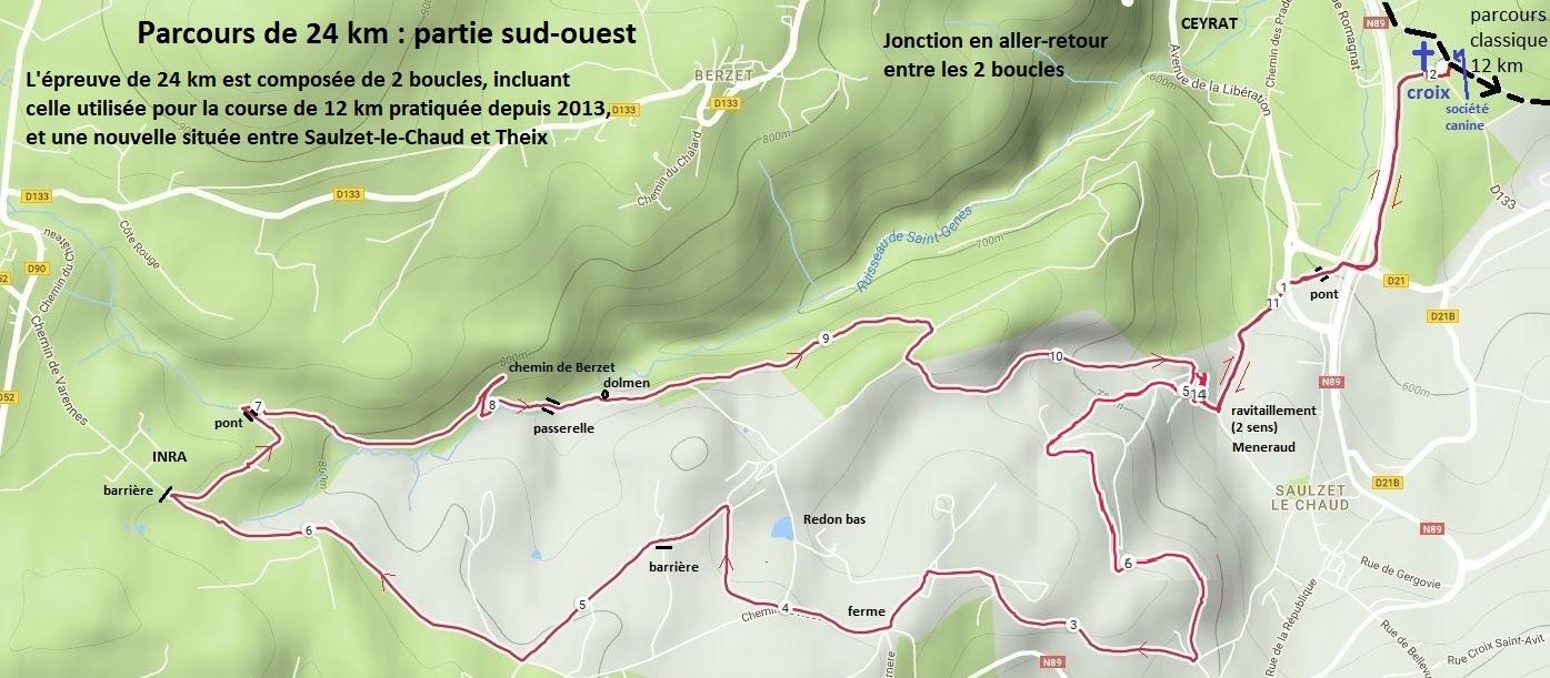trace GPS boucle Saulzet-Theix 25 km
