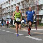 sprint entre Nico Batisson et Didier Trinque au bout des 10 km