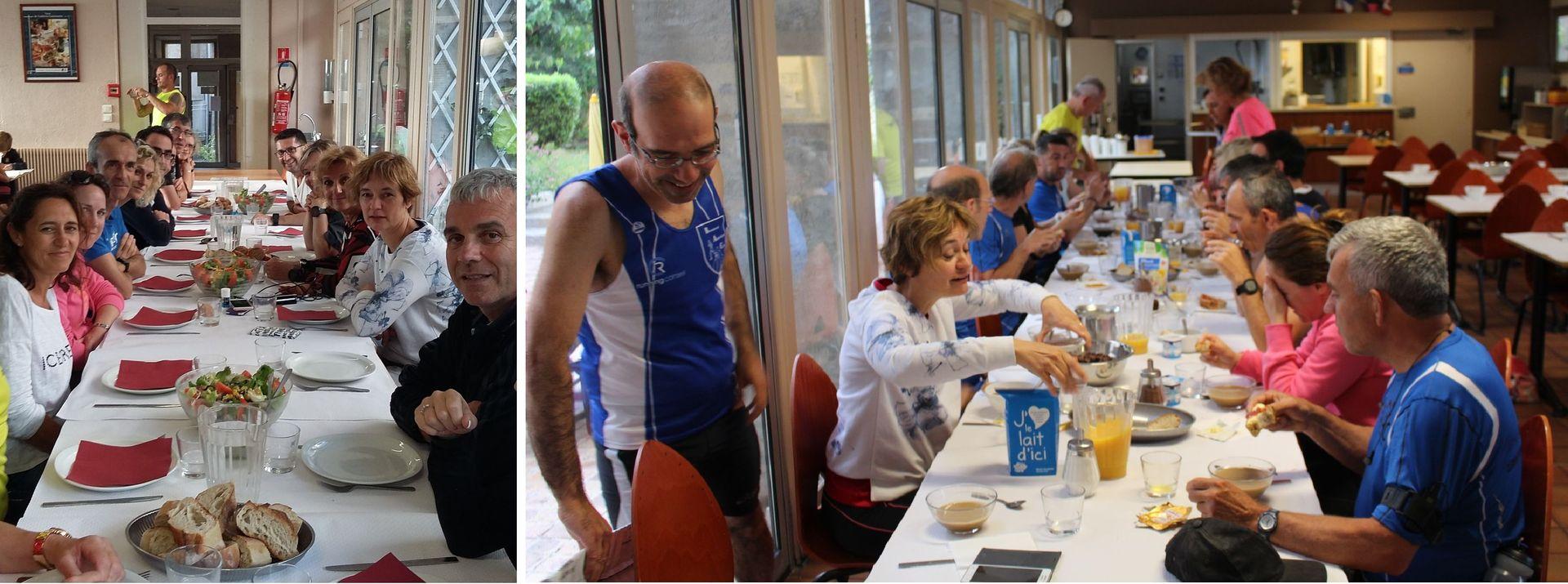 préparation calorique : diner et petit-déjeuner à l'auberge de jeunesse