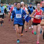 Brigitte Cante au départ de la course des féminines + cadets  masculins