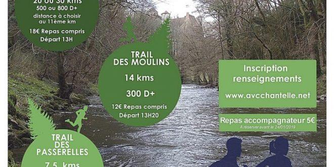 sortie club trail des Moulins de la Bouble