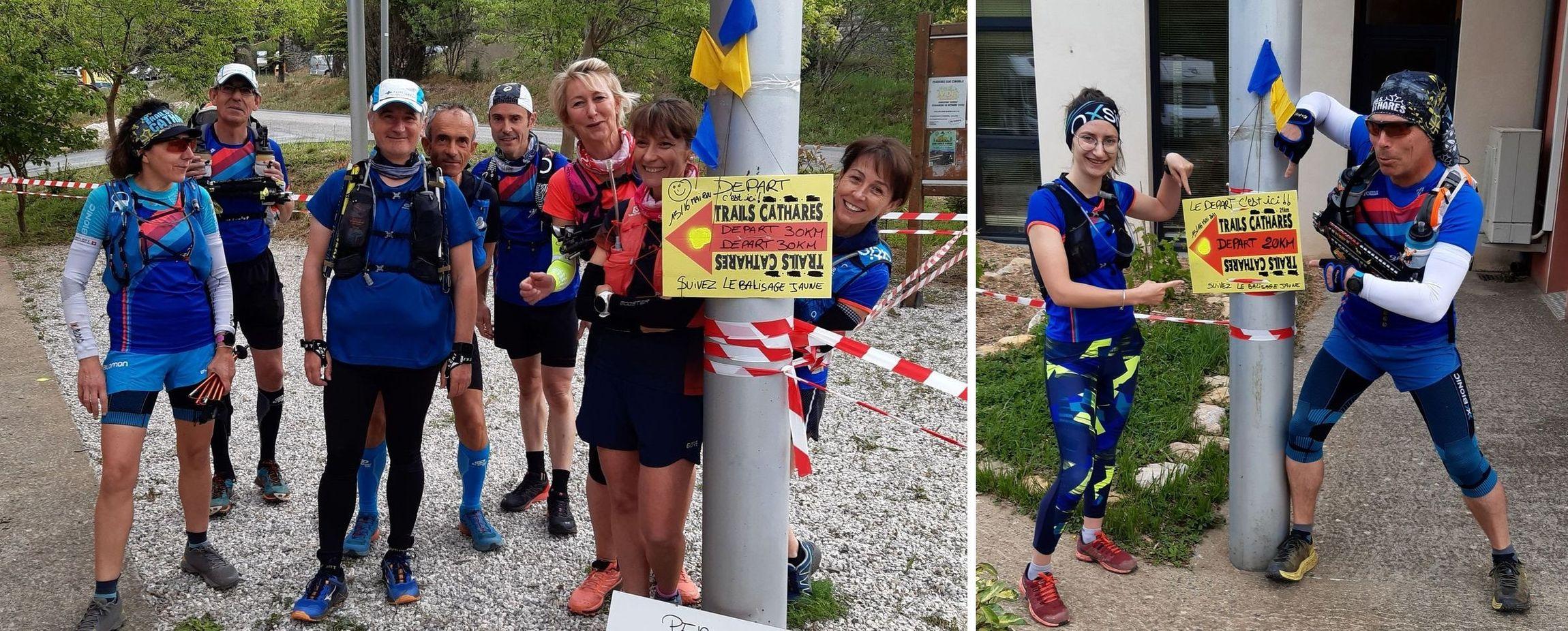Deux parcours étaient balisés : 28 km, et 18 km (le choix de Julie et Lionel)
