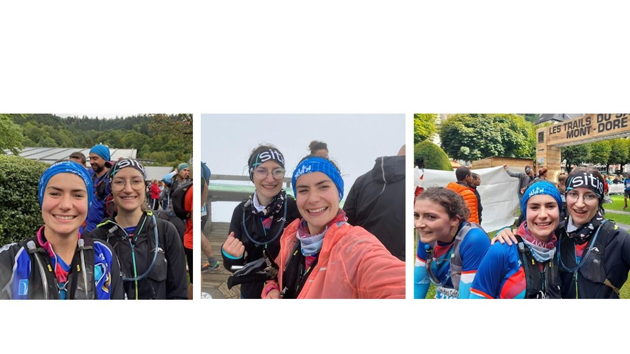 Samantha, Julie et Aliette sur le 19km